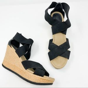 Kenneth Cole Reaction Wedge Sandals Black Swell-O